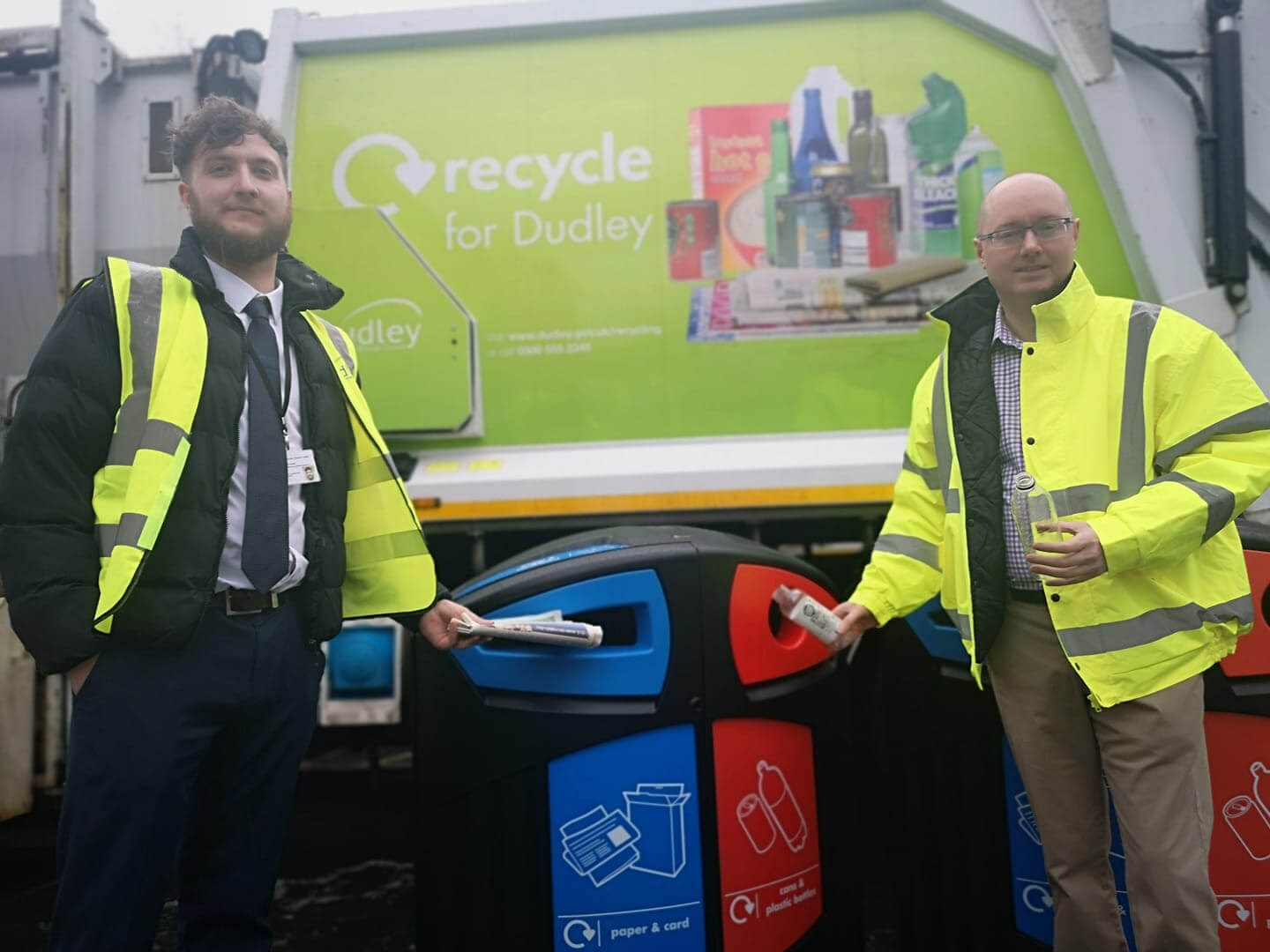 Recycle on the go in the Dudley borough