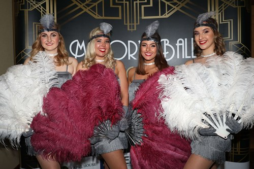 A picture of the Supreme Showgirls, who performed at the Mayor's ball and civic awards 2019