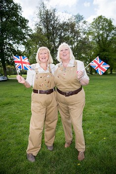 Land girls at Armed Forces Day
