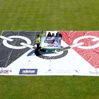 Biggest ever Black Country flag!