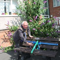 New bench paints perfect picture for residents