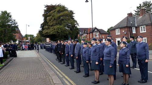 Assembled parade for Battle of Britain