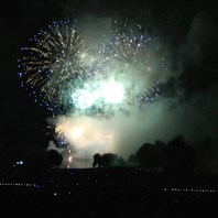 Space themed fireworks are out of this world - Himley bonfire 2019