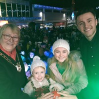 TV star lights up Halesowen town