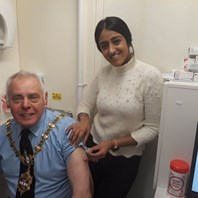 Mayor gets his flu jab