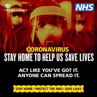Clear message to stay home and save lives this Easter