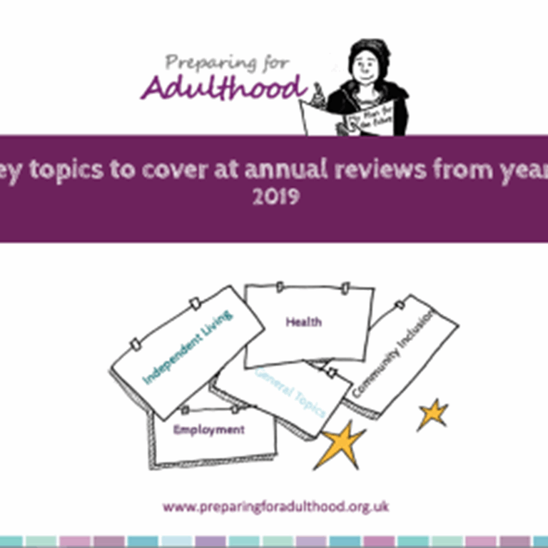Key Topics to cover at annual reviews from year 9