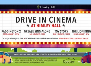 Drive in at Himley Hall & Park