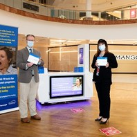 Home testing kits available in shopping centre