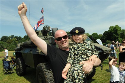 Crowds soak up the sun at Armed Forces Day