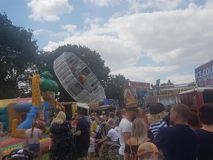 Fun fair at Halesowen Carnival
