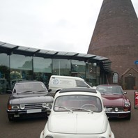Classic cars at the Red House Glass Cone