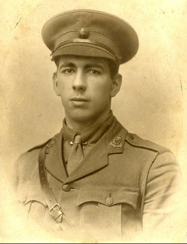 Photo of Edward Feliz Baxter, awarded the Victoria Cross for his gallant actions in WW1