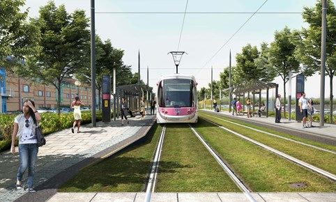 An image of the proposed Metro extension