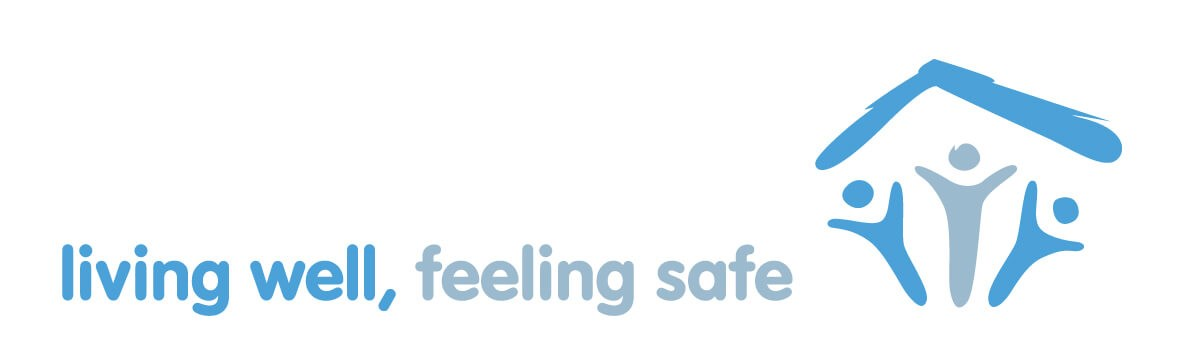 Living well, feeling safe logo