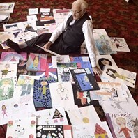 Children draw on inspirational heroes