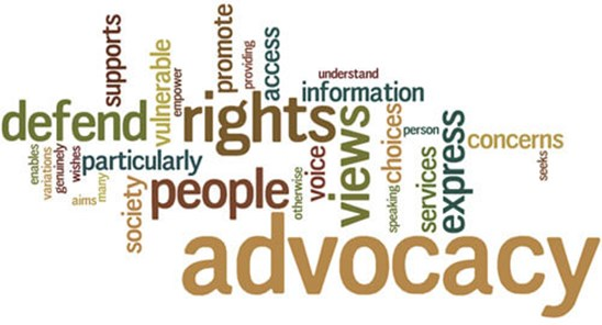 Advocacy word info graphic