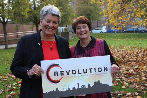 Rose Younger and Cllr Rachel Harris